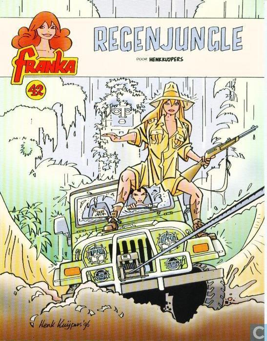 Carte postale - Bande dessinée: Franka - Franka 42 - Regenjungle