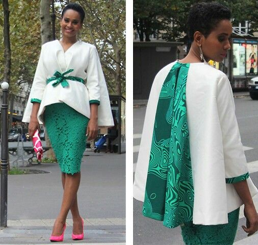 Elie Kuame jacket/ cape (I want this)