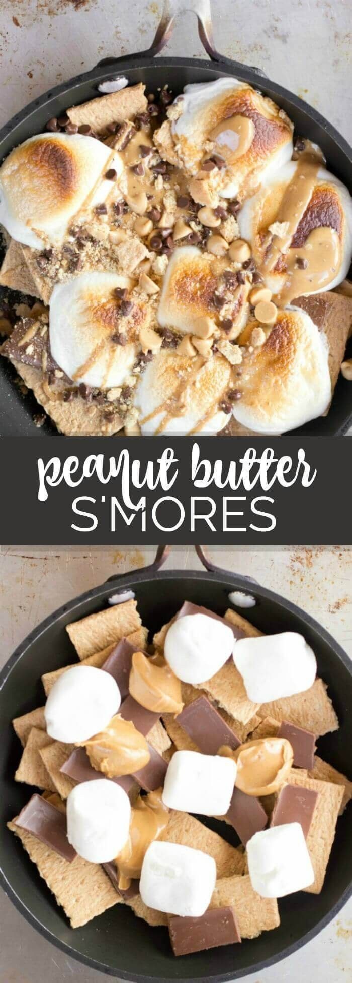 Chocolate Peanut Butter Oven S'mores Recipe GetCampfiredUp AD