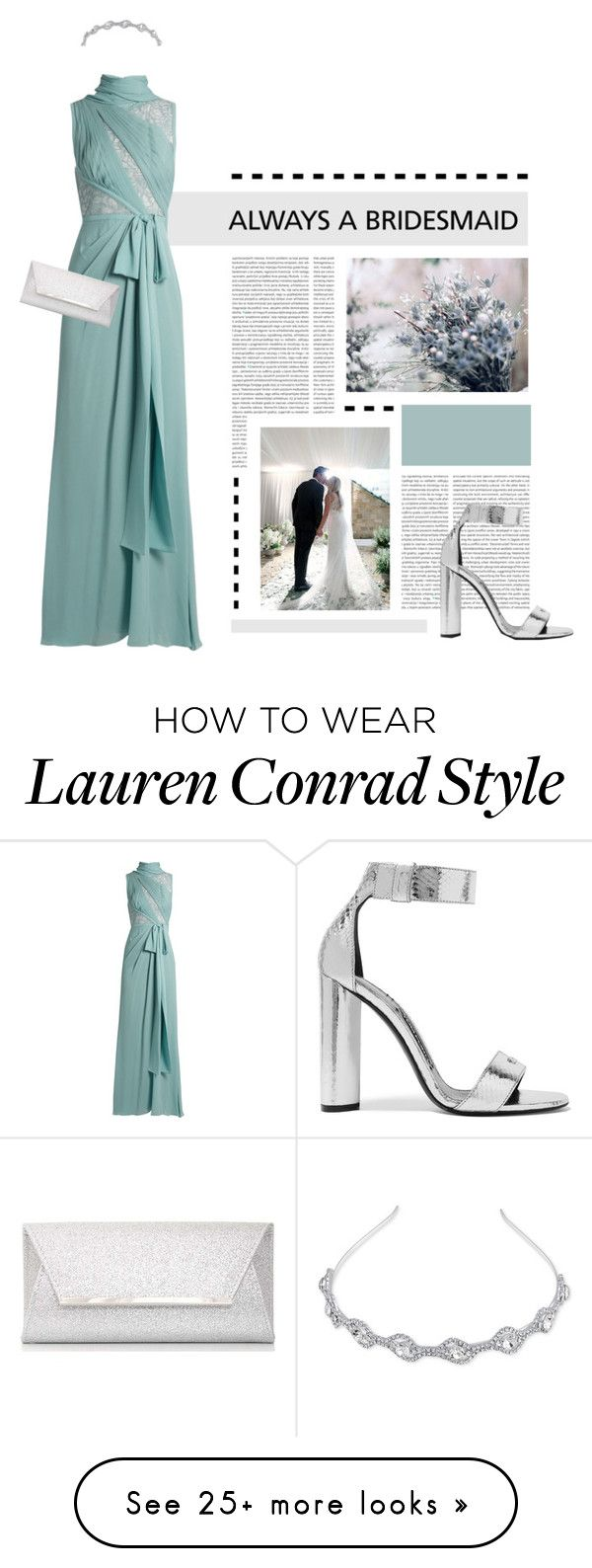 """""""Always Bridesmaid"""" by loveyourselves on Polyvore featuring Elie Saab, Dorothy Perkins, Lauren Conrad, Tom Ford, bride, mint, weddingdecor and alwaysbridesmaid"""
