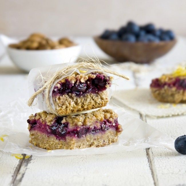 Vegan Berry Crumble Bars (Gluten Free)