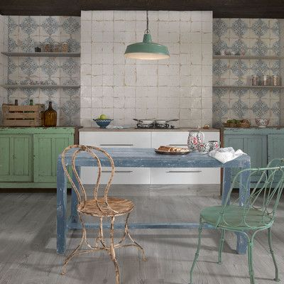 "EliteTile Artisanal 13"" x 13"" Ceramic Field Tile in Azul & Reviews | Wayfair"