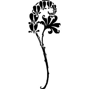 Flowers - Silhouette 4 clipart, cliparts of Flowers - Silhouette 4 ...
