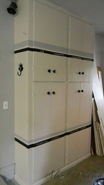 garage cupboard makeover, closet, garages, After Organized and useful