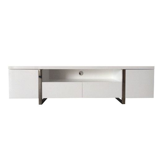 Abbey Coffee Table High Gloss White With 2 Pull Out Drawers: Found It At AllModern - New York TV Stand