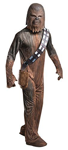 DELUXE Chewbacca jumpsuit, gloves, shoe covers, and mask Important: costumes are sized differently than clothing, important to consult Rubie's adult size chart and recent reviews to make best selection OFFICIALLY LICENSED Star Wars costume, items shipped and sold by Amazon are guaranteed authentic