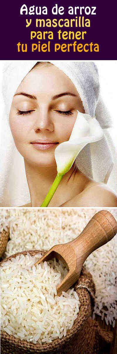 Agua de arroz y mascarilla para tener tu piel perfecta