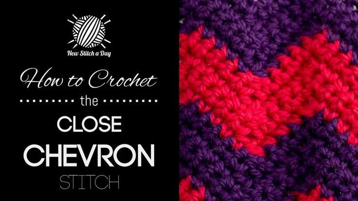 This video crochet tutorial will help you learn how to crochet the close chevron stitch. This stitch creates a fun two colored chevron pattern. The close chevron stitch would be great for afghans, bags and hats!