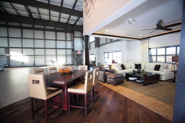 Hangar homes luxury airplane hangar apartment by upscale urban design in charlotte hops - Loft houses with underground garage ...