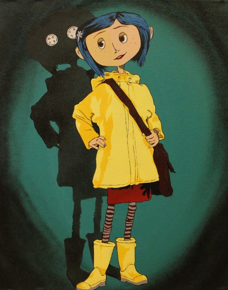 Coraline Print by HeadOnAPlateArt on Etsy,