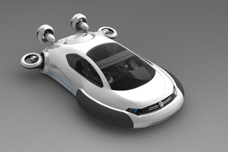 Like most hovercraft, the Volkswagen Aqua uses more than one engine. The primary motor, which is powered by a hydrogen fuel cell, is used to drive the main fan which inflates the skirt around the vehicle and raises the Aqua just above the ground. The fans at the rear of the vehicle are powered by individual electric motors to provide forward thrust and directional control.