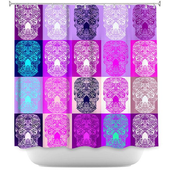 purple and teal shower curtain. Shower curtain with skulls print  pink and purple shower skull art sugar Best 25 Purple curtains ideas on Pinterest home