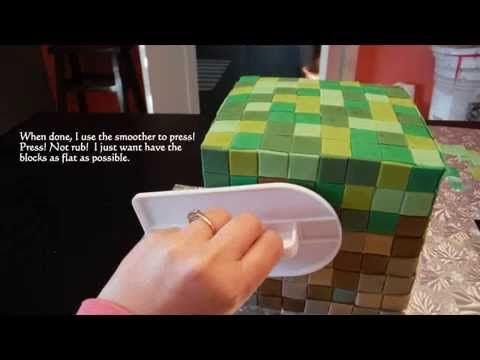 Minecraft cake tutorial - YouTube #minecraft, #minecraftcake, # howtomakeminecraftcake Like and Share on Facebook,https://www.facebook.com/sassycaketutorials