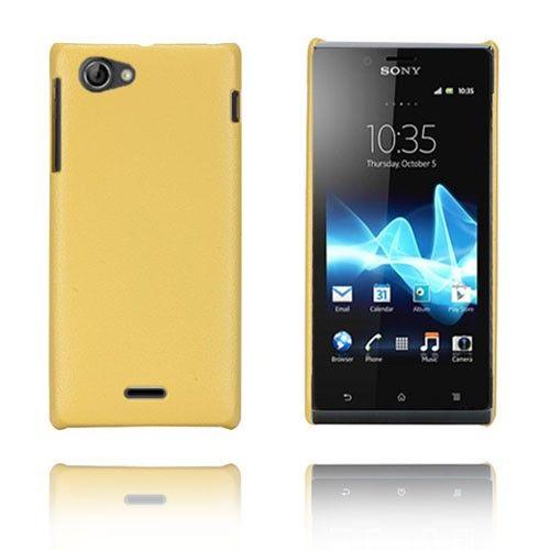 Alpha (Gul) Sony Xperia J Etui