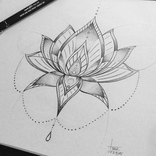 M s de 1000 ideas sobre flor de loto dibujo en pinterest flor de loto tatuaje y tribales - Mandala fleur de lotus ...