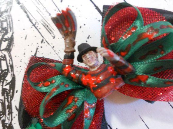Freddy Krueger Figurine Hair Bow