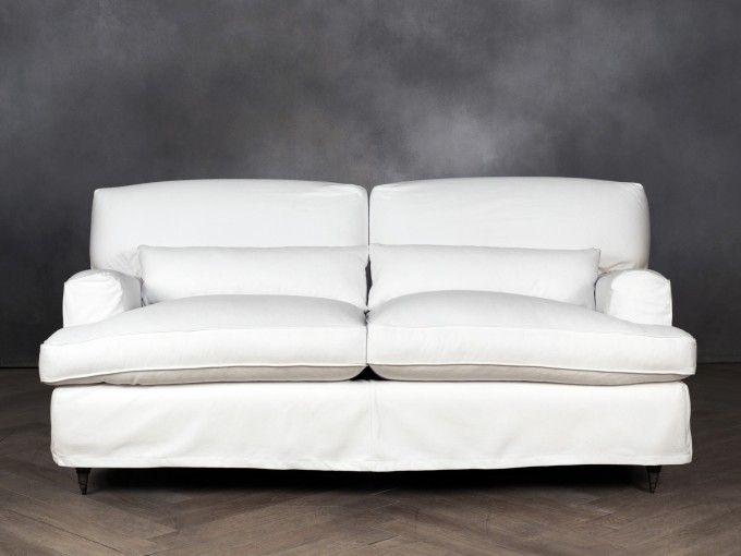 SAVOY Divano - 2 posti  codice: 8457100001    Colore  bianco  Rivestimento  cotone  Dimensioni  2 posti  Piedini  faggio  Struttura  faggio e abete  Misura:  (112x202x85)