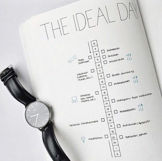 This tidy timeline: | 24 Minimalist Bullet Journal Layouts That'll Get You Hard