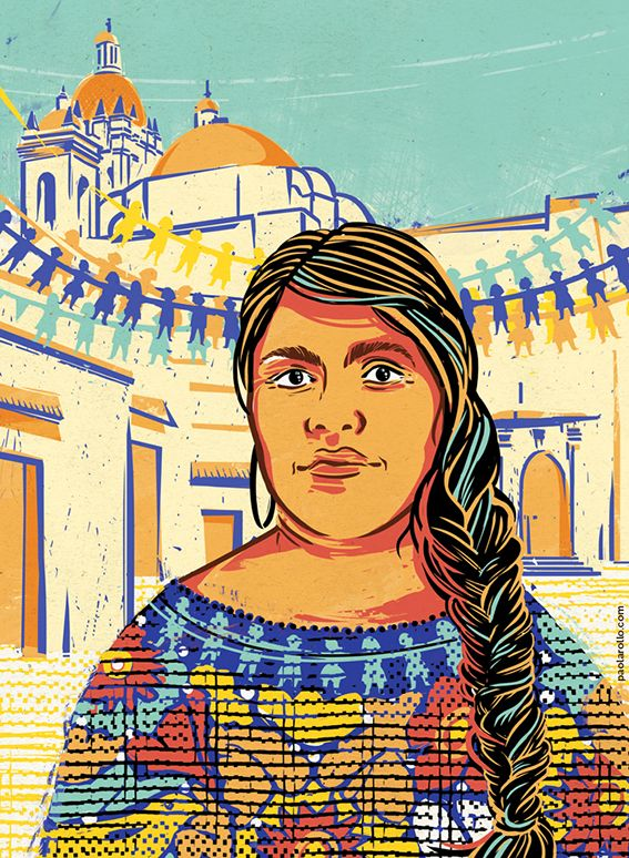 """Eufrosina Cruz Mendoza by Paola Rollo. A portrait for """"Goodnight stories for rebel girls"""", a project by Timbuktu Labs."""