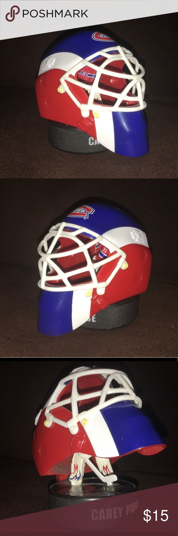 """Montréal Canadiens Carey Price happy meal toy Thank you for viewing my listing, for sale is a 2009, McDonald's, kids happy meal, NHL, goalie mask toy.  This is for the Montréal Canadiens and their goalie Carey Price  Item measures appx 4""""X4"""" Great for display, on the nightstand or a mantle. Perfect for any diehard Canadiens fan  I have another one of these for sale that is brand-new in the package. Please view that listing if you were interested.  If you have any questions or would like…"""