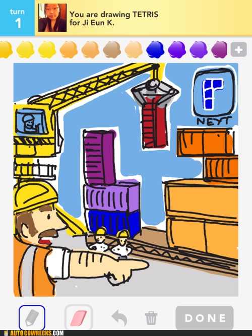 Who Let Bob the Builder Get His Hands onTetris?Bobby Drawing, Fun Drawing, Plays Drawsometh, Features Awesome, Drawing Something, Fun Blog, Fun Stuff, Bobs The Builder Funny, Awesome Drawing