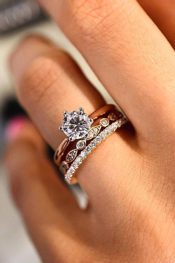 18 Perfect Solitaire Engagement Rings For Women ❤ solitaire engagement rings round rose gold sets ❤ More on the blog:  ohsoperfectpropos... #PlainGoldJewellery
