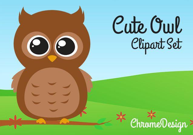 Cute Owls Clipart set - Owl PNG Images - Owl Clip Art set - INSTANT DOWNLOAD!