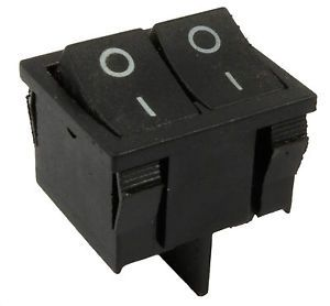 a negro onoff doble snap in rectangulo rocker switch coche dashboard dpst 12v
