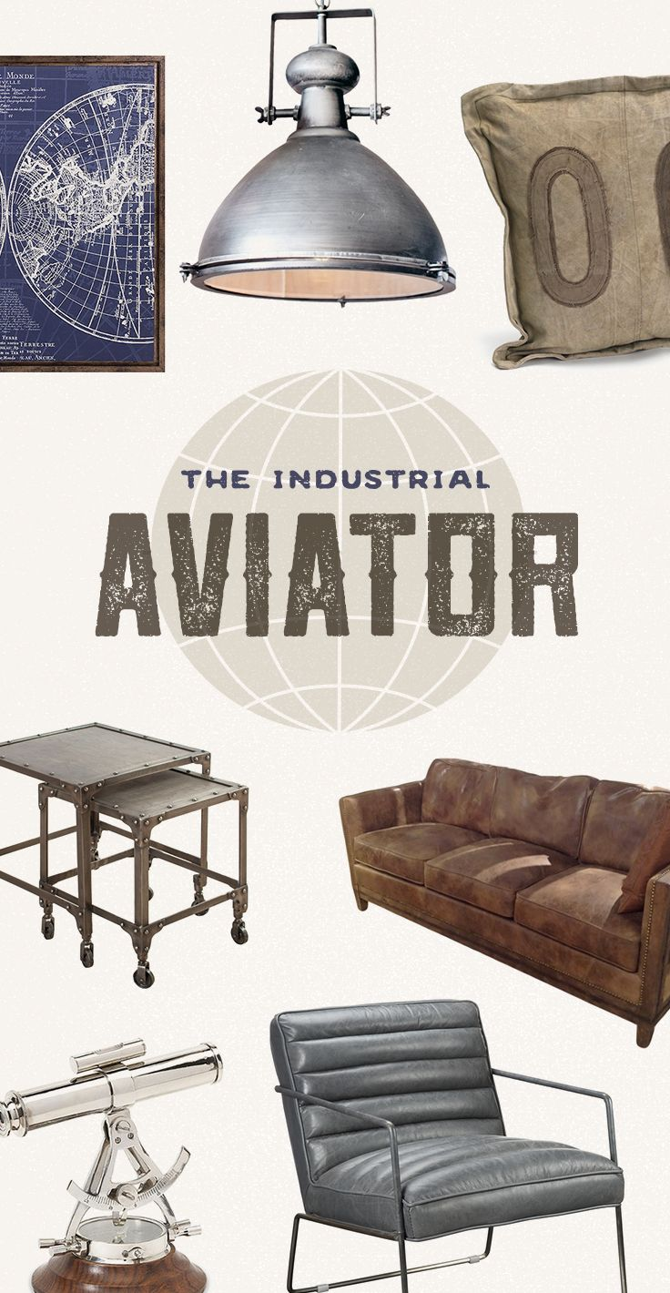 Take Your Style To New Heights: With riveted steel furniture and vintage-inspired maps, capture the thrill of flying high above the clouds. Propel your style to new heights with the Airliner Coffee Table and art prints depicting classic planes. Shop Now at dotandbo.com!