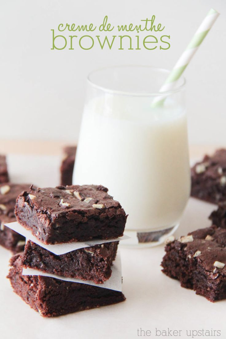 creme de menthe brownies recipe - divine!
