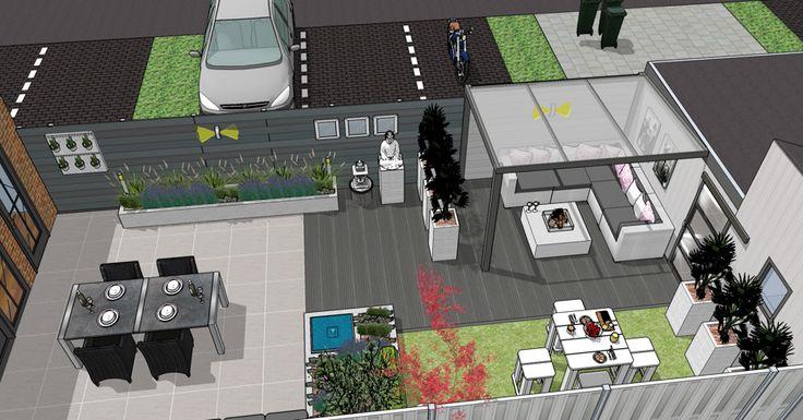 Tuinontwerp moderne stadstuin achtertuin moderne stadstuin modern urban garden pinterest - Tuinontwerp ...