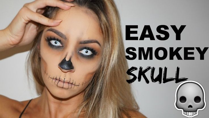 Easy Halloween Makeup Tutorial | Smokey Skull