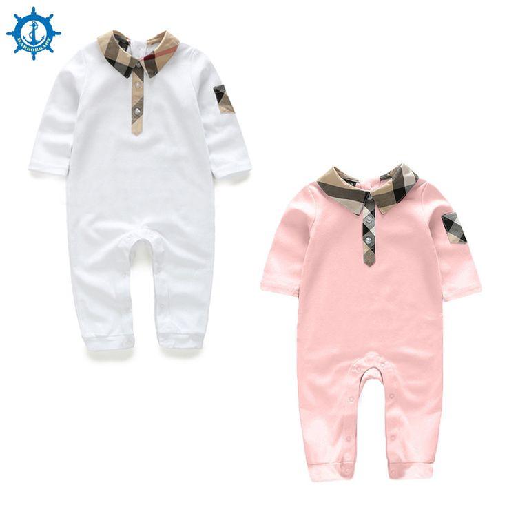 Mamelucos del bebé 100% Algodón de Manga Larga de Dibujos Animados 2 colores Estilo de La Moda de Ropa de Bebé Niña Niño Chico Monos Bebe Roupas HB062