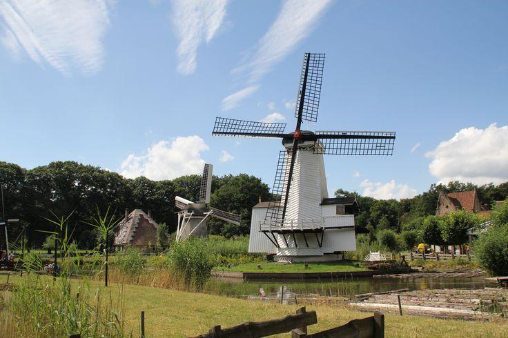 Een windhoutzaagmolen uit Numansdorp Staat nu in het Nederlands Openluchtmuseum in Arnhem Foto van Marina Pijpers