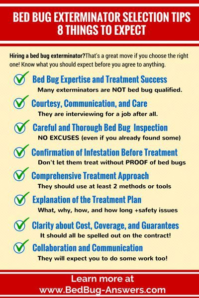 Hiring a bed bug exterminator? Good move if you choose the right one! Make sure you know all 8 things you should expect before you agree to anything.