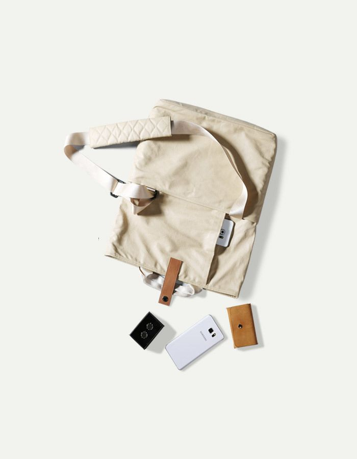 The newcomer this week is an all in one bag: versatile, light and waterproof. Made from high quality plastic canvas and genuine leather this bag has plenty of space for all your devices.