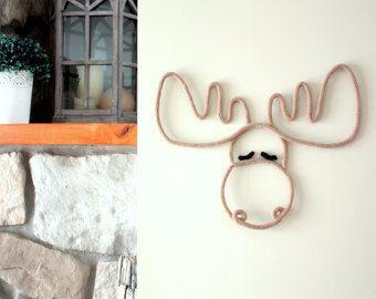 Le chouette hibou en tricotin Décoration murale par TricoTiCota