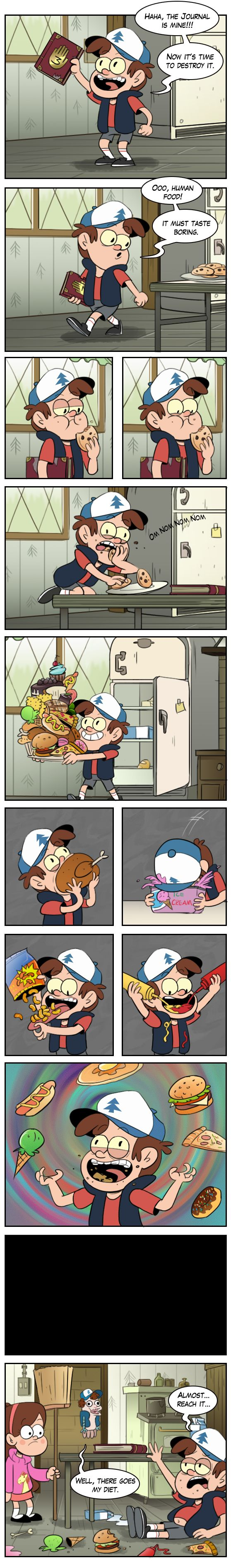 Bipper's weakness by markmak on DeviantArt ←For some reason I find this very funny #GravityFalls #Bipper #Food