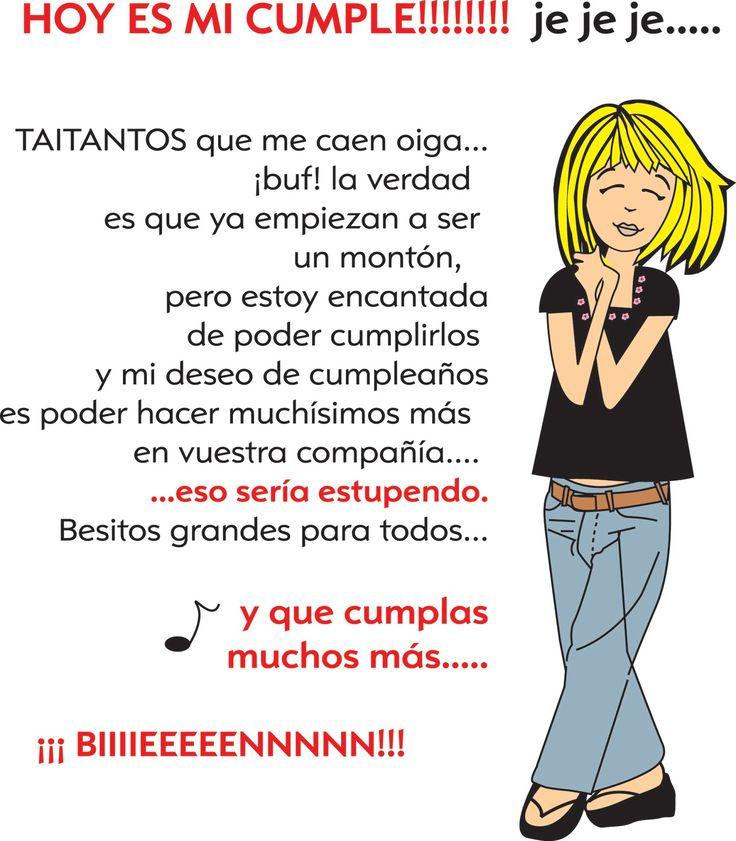 59 best images about cumplea os on pinterest amigos - Feliz cumpleanos letras ...