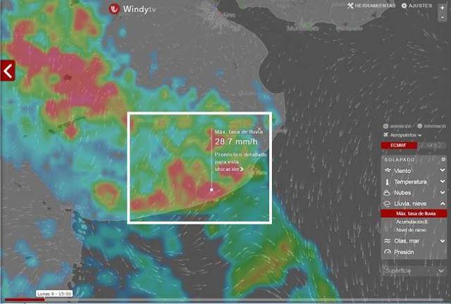 A LA PLAYA TEMPRANO: SE ADVIERTEN FUERTES LLUVIAS PARA LA TARDE    Puede fallar pero parece que se viene la lluvia Con el cambio climático la ciencia meteorologica se tornó de lo más imprecisa. Es asi que todas las herramientas son válidas para anticipar los eventos climáticos. El portal WINDYTV.COM muestra en sus predicciones que a partir de las 15 horas de este lunes 9 de enero de 2017 se esperan fuertes lluvias para toda la zona atlántica de la provincia de Buenos Aires Necochea incluida…