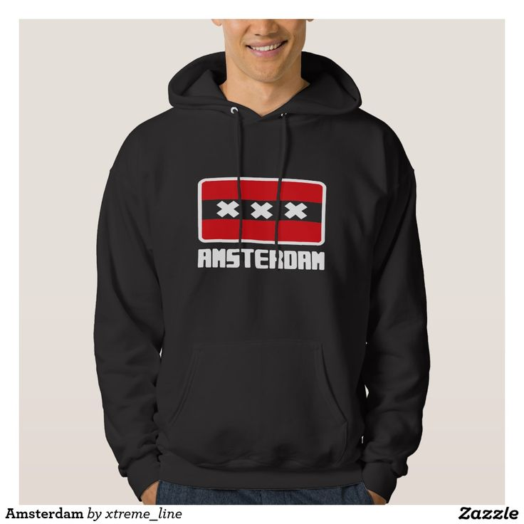 Amsterdam Flag Hooded Sweatshirt.