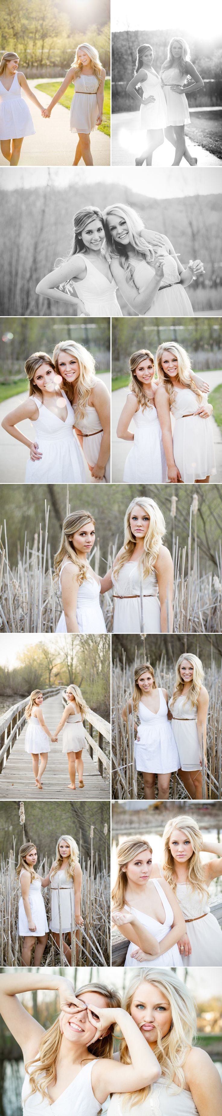 best friend ideas.... :) we should do something like with our senior pictures