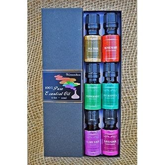9GreenBox - Pure Therapeutic Grade Essential Oil Gift Set 6/10 Ml, Brown (Stainless Steel), Gardening