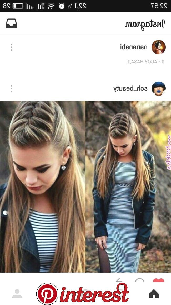Super Easy To Try A New Hairstyle Download Tiktok Today To Find More Hairsty Super Easy To Try A New Hairstyle Do Penteados Faceis Penteados Pinterest