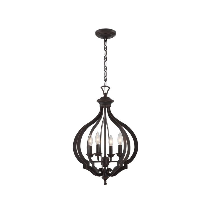 The Orlena 4-light Pendant comes in a dark bronze finish. This fixture is  sc 1 st  Pinterest & 285 best Ceiling fixtures images on Pinterest | Ceiling fixtures ... azcodes.com