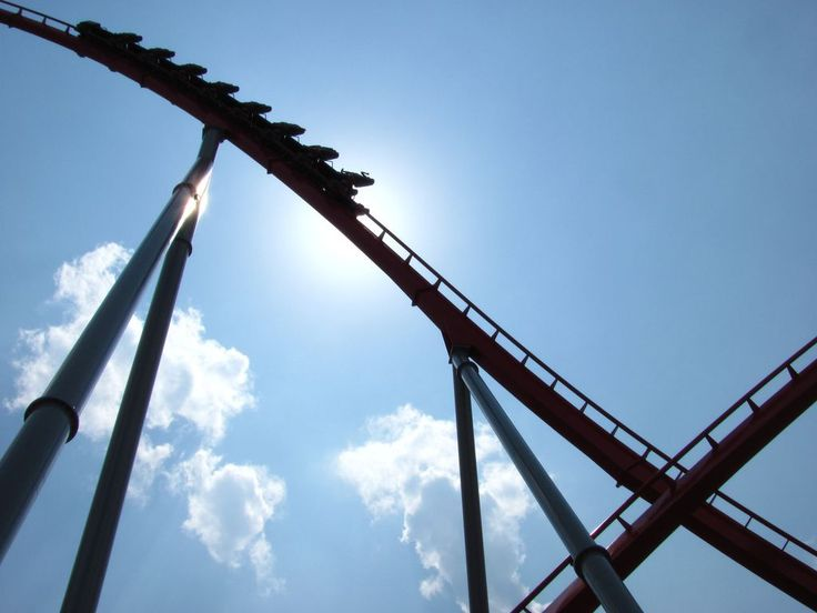 It's a twofer! Intimdator at Carowinds  - http://earth66.com/rides/twofer-intimdator-carowinds/