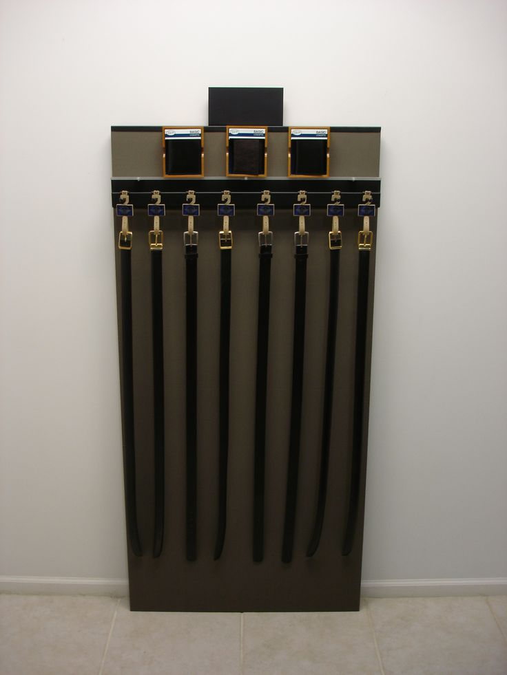 Hanging Belt Display I Pop I Made From Wood And Metal I