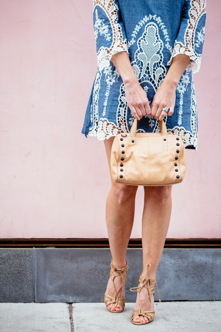 Denim Lace Dress | Sequins & Stripes