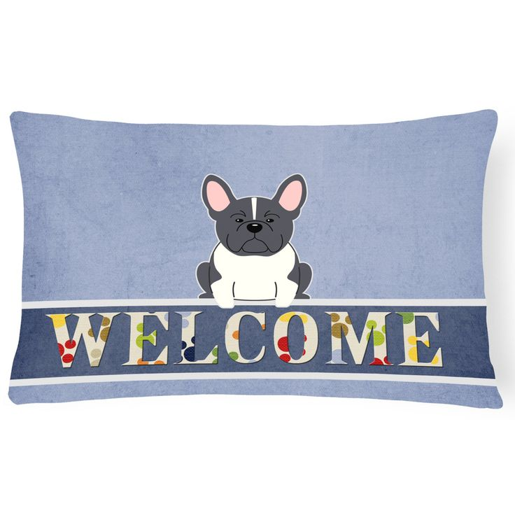 Carolines Treasures French Bulldog Welcome Outdoor Pillow - BB5590PW1216