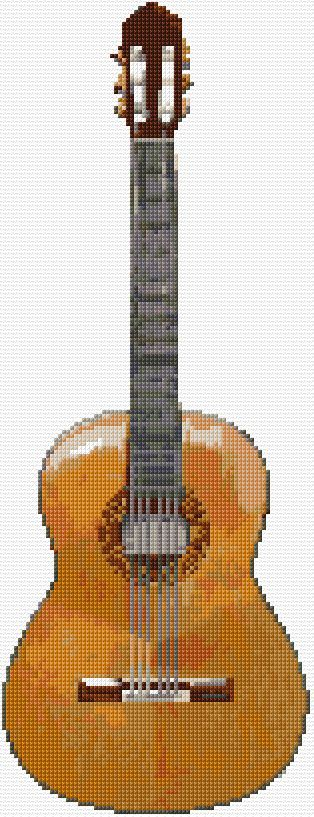 Cross Stitch | Classic Guitar xstitch Chart | Design